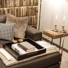 Traditional Basement by Natalie Fuglestveit Interior Design