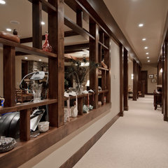 traditional basement by Aneka Interiors Inc.