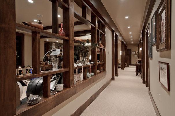 Traditional Basement by Aneka Interiors Inc.