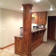 Traditional Basement by Dykstra Wood Works