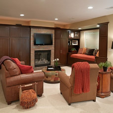 Traditional Basement by Finish Line Building
