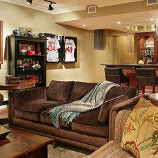 Eclectic Basement by Craig Custom Builders