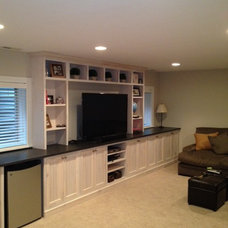 Traditional Basement by Seneca Custom Cabinetry