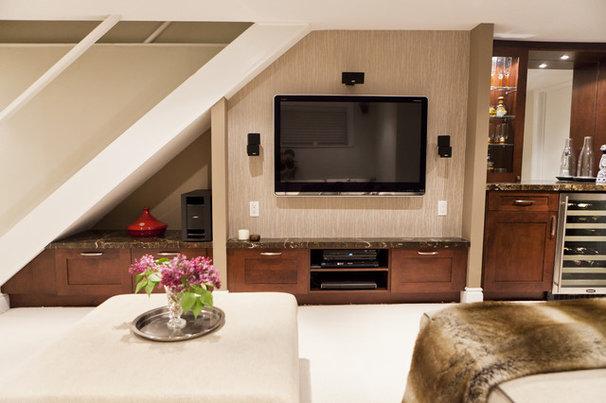 Traditional Basement by BiglarKinyan Design Planning Inc.
