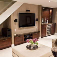 Traditional Basement by BiglarKinyan Design Planning Inc.