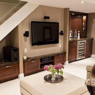 Example of a classic basement design in Toronto