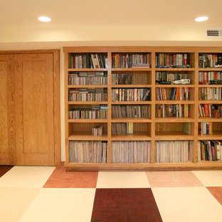 Example Of A Mid Sized Eclectic Look Out Linoleum Floor Bat Design In Other