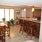 Basement Walk-Up Bar - Traditional - Basement - Minneapolis - by Finished Basement Company