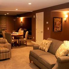 Traditional Basement by Hixon Interiors, Inc.
