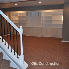 Contemporary Basement by Mark Olis Construction