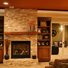 Craftsman Basement by Brothers Construction