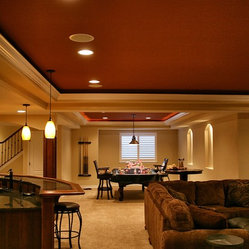 Denver Eclectic Basement Design Ideas, Pictures, Remodel and Decor