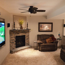 Traditional Basement by Tatcor.com Building and Remodeling