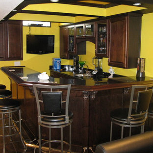 Example of a classic basement design in Other