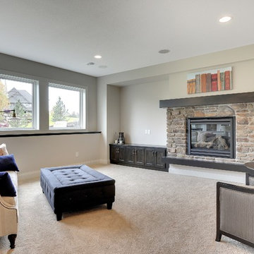 Basement Fireplace – The Meadows and Riley Creek – 2014 Model