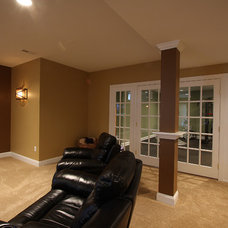 Traditional Basement by NVS Remodeling & Design