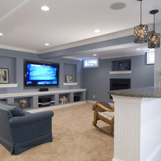 Traditional Basement by Summit Design Remodeling, LLC