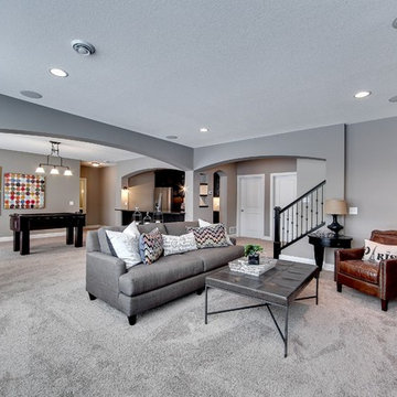 Basement Game Room and Fireplace – Bay Lake Reserve Model – 2014 Spring Parade o