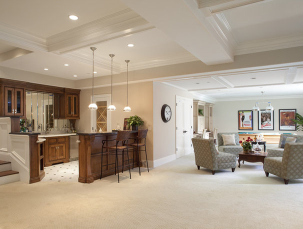 Traditional Basement by Arch Studio, Inc.