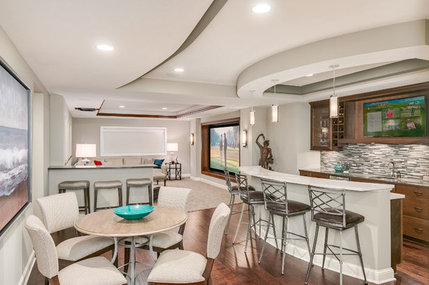 Contemporary Basement by FBC Remodel