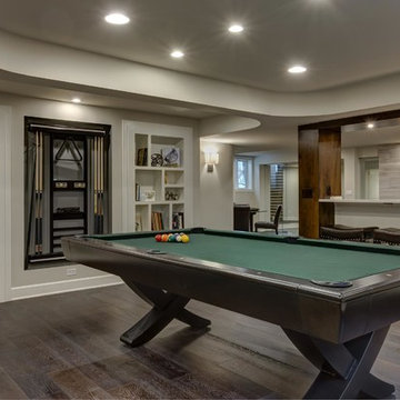 Basement Great Room with Pool Table
