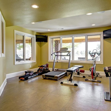 Basement Gym and Workout Area