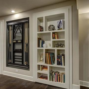 Basement Hidden Bookcase Closed