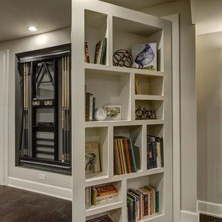 Basement Hidden Bookcase Open