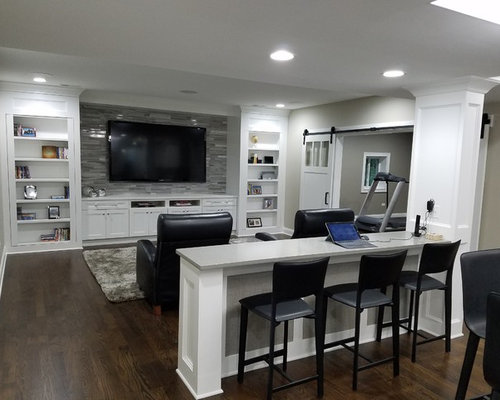Best Traditional Basement Design Ideas Amp Remodel Pictures