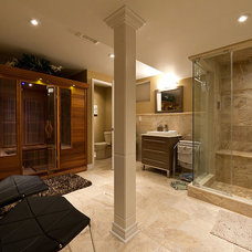 Transitional Bathroom by Finished Basement