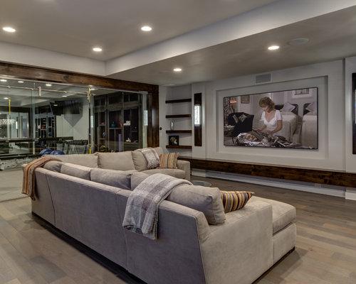 Moderner keller einrichten ideen houzz for Contemporary basement designs