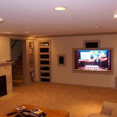Contemporary Basement by The Green Construction Company