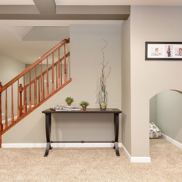 Basement Kids Play Area Under the Stairs