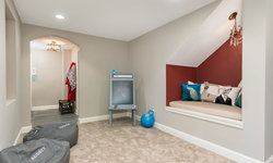 Basement Kids Play Area with Wall Niche