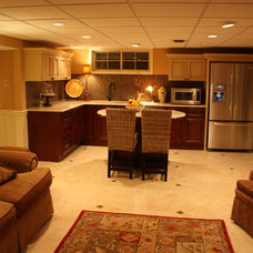 Traditional Basement by RTA Cabinet Store