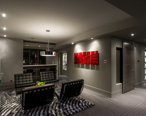 Man Caves Houzz : Small basement man cave home design ideas pictures