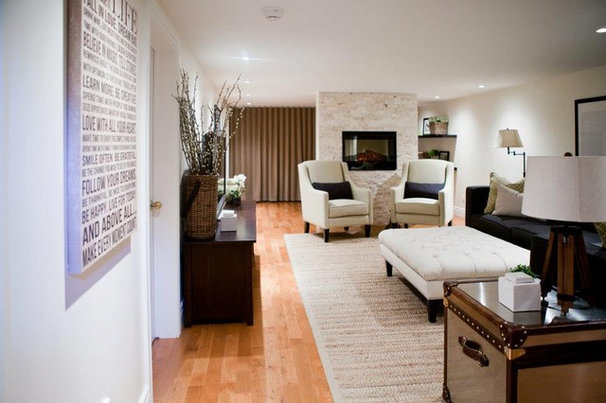 Contemporary Basement by Lux Decor
