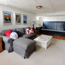 Beach Style Basement by E.R. Miller