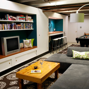 Ordinaire Basement   Contemporary Basement Idea In Indianapolis