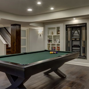 Basement Pool Table & Stairs
