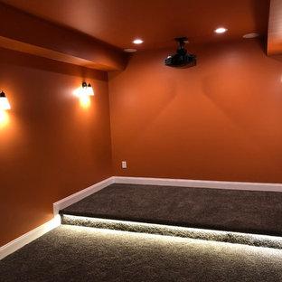 Example of a basement design in Atlanta