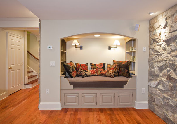 Traditional Basement by Norman L Graham Inc