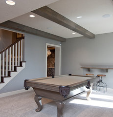 contemporary basement by Rebekah Schaaf, Transitional Designs KC