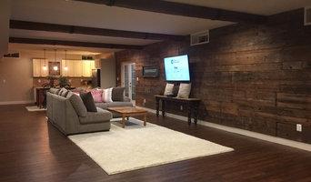 Basement: Reclaimed Lumber Accent Wall