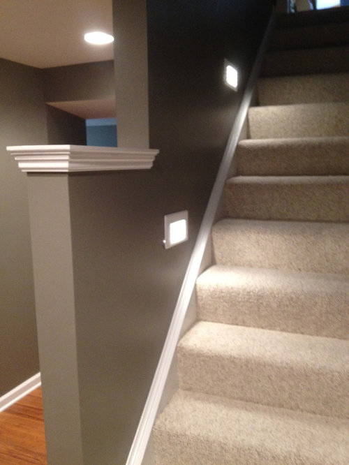 Basement Stair Lighting Home Design Ideas Pictures Remodel And Decor