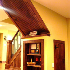 Traditional Basement by Adirondack Carpentry LLC