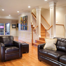 Traditional Basement by Creative Design Construction, Inc.