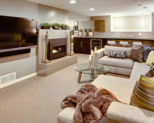 7 Basement Ideas On A Budget Chic Convenience For The Home: L Shaped Basement Home Design Ideas, Pictures, Remodel And