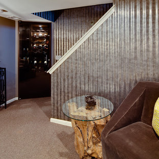 Inspiration for an eclectic basement remodel in Minneapolis