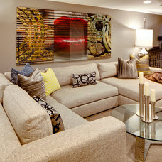 Contemporary Basement by Dwelling Designs